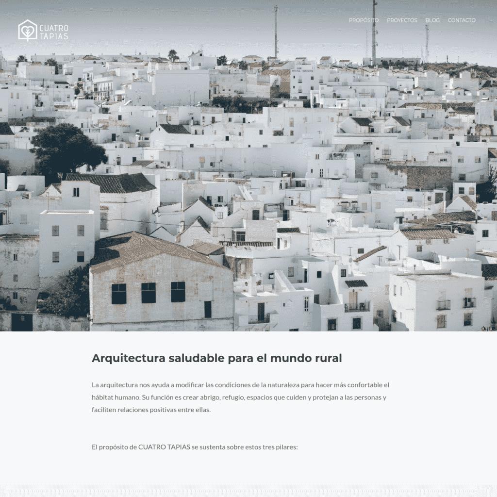 Proyecto Web - WordPress - Cuatro Tapias Arquitectura saludable para el mundo rural